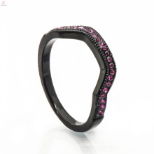 Fashionable Black Copper Jewelry Wedding Box Bag Gold Long Finger Ring