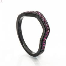 Модная Черная Медь Ювелирных Изделий Свадебная Коробка Сумка Золотой Палец Кольцо