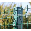 3d curvó el triángulo revestido que doblaba la cerca soldada con autógena de la malla de alambre