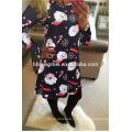 Мода o шеи фиолетовый напечатано красочное Новогоднее платье Европейского дизайнера одежды женщин
