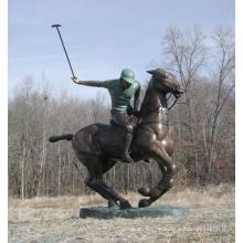Bronze Polo Player Statue HVLA-163R
