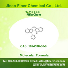 Cas 1024598-06-8   11,12-dihydro-11-phénylindolo [2,3-a] carbazole   Intermédiaire OLED   1024598-06-8   prix d'usine; Grand stock