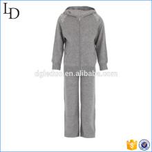 100% ropa deportiva de Cachemira para niños sudaderas con capucha y pantalones conjunto de desgaste de gimnasio