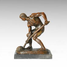 Eastern Statue Traditional Farmer Bronze Sculpture TPE-380