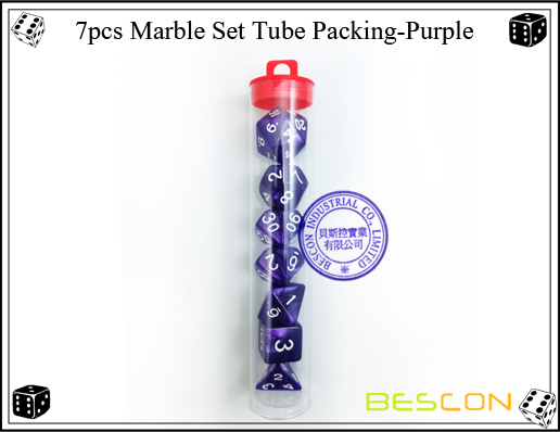 7pcs Marble Set Tube Packing-Purple32