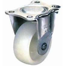 Roda de cassete de nylon fixo para móveis (branco)