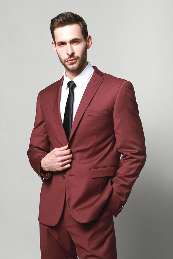 Men's fashion color suit