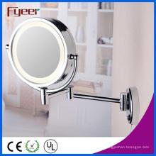 Espelho de Maquilhagem de Parede Lateral Dupla Fyeer com Luz LED