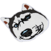 Cartoon Husky Dogs Towel Chenille Embroidery Rope Patches