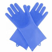 Силиконовые хозяйственные перчатки с длинным рукавом для мытья посуды