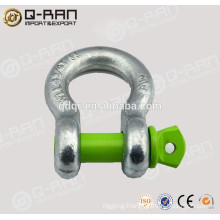 Marine Hardware Drop Forged Galvanized Green Pin Shackle