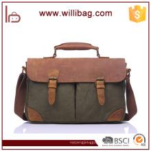 Men Canvas Shoulder Bag Casual Message Bag Crossbody Satchel Bag