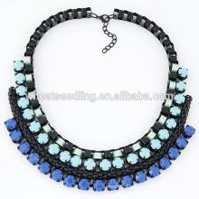 2015 Trendy braided lady choker elegant necklace