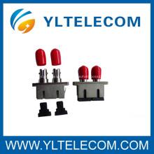 Adaptador óptico híbrido SC a ST o modo simple de cerámica Zirconia Simplex