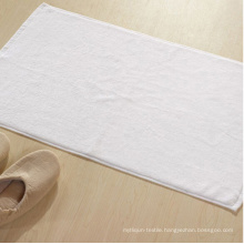 100%Cotton Plain White Hotel Bath Mat Floor Towel
