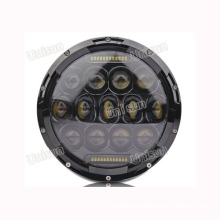 12V/24V 75W Offroad for Jeep LED Headlight with DRL