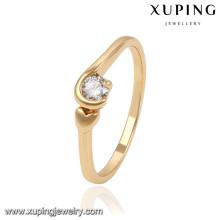 13833 xuping fashion new women design antique gold finger ring