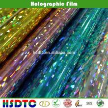 ПЭТ Голографическая пленка/Лазерная пленка для УФ-печати с сертификатом SGS