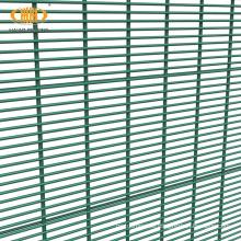 pvc coated 358 security fence with razor wire prison mesh anti burglar fence