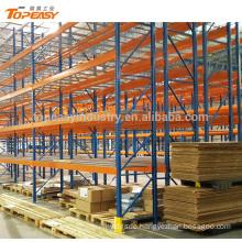heavy duty metal double deep pallet rack for warehouse