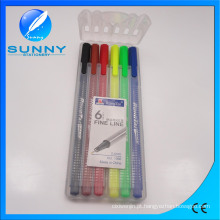 Fineliner marcador, caneta de cor água no caso de PP embalagem