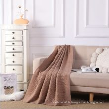 Couverture en pur cachemire à tricoter pour la maison
