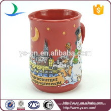 YScc0005-01 Christmas Tree And Snowman Pattern 3d Mug For Kids