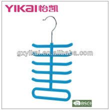 Flocking tie scarves exibir cabides com 11 racks