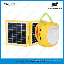 Lumières solaires pliables de camp de lanterne avec le chargeur de téléphone portable pour le camping (PS-L061)