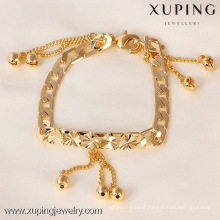 71348 Xuping 18K Gold Plated Heart and Bead Bracelet, Fashion Women Bracelet