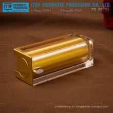 ZB-PK15 15ml caliente-venta lujo y noble cuadrado oro colorido vacío botella