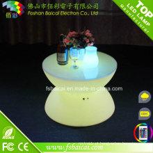 Mesa de centro de vidro LED para mobiliário para jardim