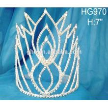 Павлин волосы тиары стразы тиары кристалл свадебная корона 2015 новый дизайн мода корона