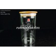 Tapa de bambú rectas de alto volumen de vidrio borosilicato
