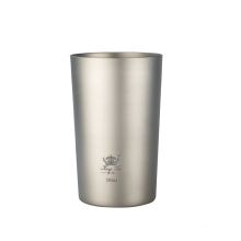 Pure Titanium Beer Mug Double Insulated