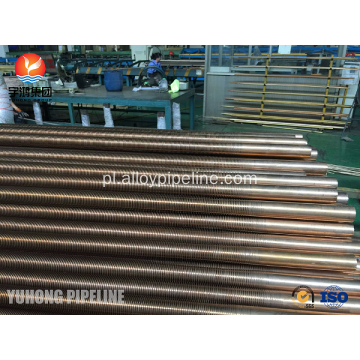 Copper Nickel 90/10 SB111 C70600-061 Low Fin Tube