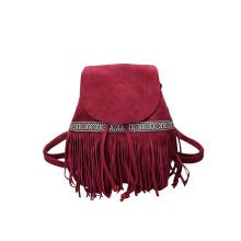 Must-Have Ladies Tassel Bag PU Sude Fringe Daypack Wzx1136