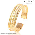51477 wide 18k gold color cuff bangle for woman bangle