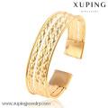 51477 ampla 18k cor pulseira de cor de ouro para mulher bangle