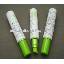 empty plastic cosmetic lotion tube