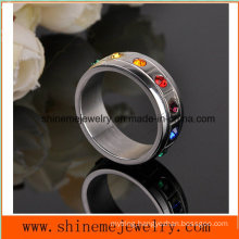 Wholesale Hot Selling Diamond Ring 316L Stainless Steel Jewelry Ring (CZR2568)