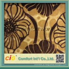 tecido de veludo do padrão floral tecido novo padrão