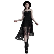 OPQ-721LQF Night Club black asymmetrical knee length summer Casual Dress sleeveless womens clothing fashion 2021 dresses ladies