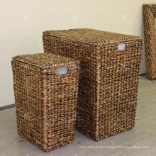 Water Hyacinth Laundry Basket Muebles de mimbre - Juego de 3