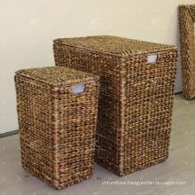Water Hyacinth Laundry Basket Wicker Furniture - Set of 3