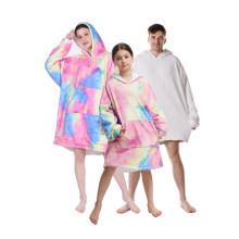 Custom Comfortable Adult TV Blanket Hoodie Sherpa Winter Adult Big Huggle Oversized Oodie