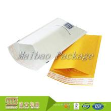 Forte Auto-Adhésif Bande Personnalisée Impression De Logo Rembourré Mailer Blanc Kraft Papier Bulle Enveloppe Mailing Bag