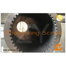 Barril de tornillo planetario del rodillo para los gránulos del extrusor plástico del PVC