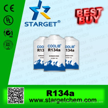 AHRI standard Refrigerant cool gas r134a with purity 99.99%,also supply DME+R134A