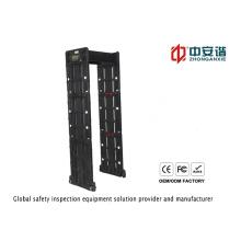 Detector de metais com moldura à porta impermeável de alta sensibilidade de zona múltipla para aeroporto / banco